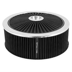 Spectre 47641 Extraflow Air Filter Assembly, 5in Tall, Black, Round