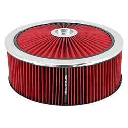 Spectre 47642 Extraflow Air Filter Assembly, 5in Tall, Red, Round