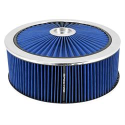 Spectre 47646 Extraflow Air Filter Assembly, 5in Tall, Blue, Round