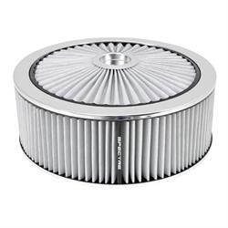Spectre 47648 Extraflow Air Filter Assembly, 5in Tall, White, Round