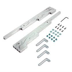 Spectre 4903 Spark Plug Wire Loom/Separator Kit, Billet Alum, Flames
