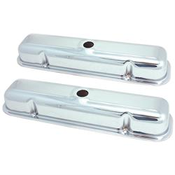 Spectre 5273 Chrome Valve Covers, Pontiac 301-455
