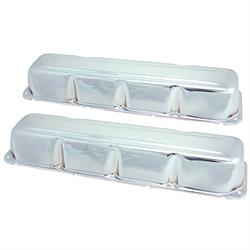 Spectre 5275 Chrome Valve Covers, AMC 304-401, Jeep 304-401