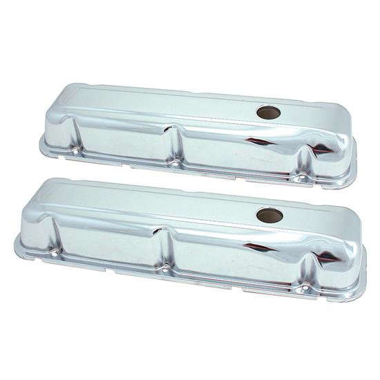 Spectre 5276 Chrome Valve Covers, Buick 350
