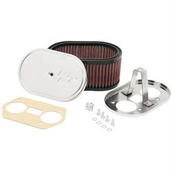 K&N 56-1170 Custom Air Filter Assemblies, 3.25in Tall, Red, Oval