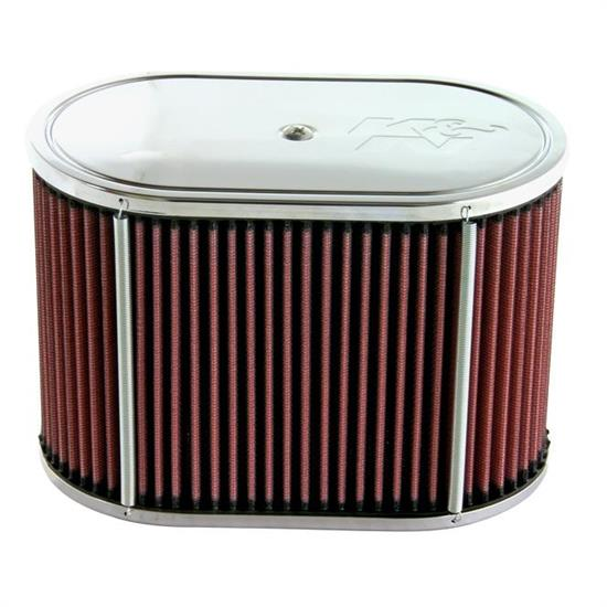 K&N 56-1200 Custom Air Filter Assemblies, 6in Tall, Red, Oval
