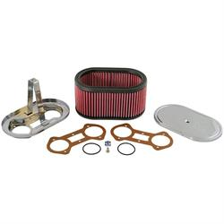 K&N 56-1220 Air Filter Custom Racing Assemblies, 4.5in Tall, Red, Oval