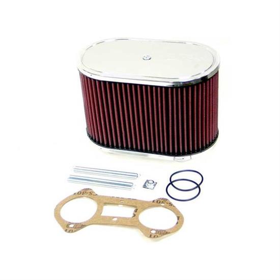 K&N 56-1230 Air Filter Custom Racing Assemblies, 5.5in Tall, Red, Oval
