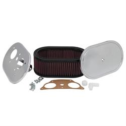 K&N 56-1255 Custom Air Filter Assemblies, 3.25in Tall, Red, Oval