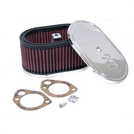 K&N 56-1320 Air Filter Assembly, 3.25in Tall, Red, Oval