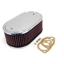 K&N 56-1360 Air Filter Assembly, 3.25in Tall, Red, Oval
