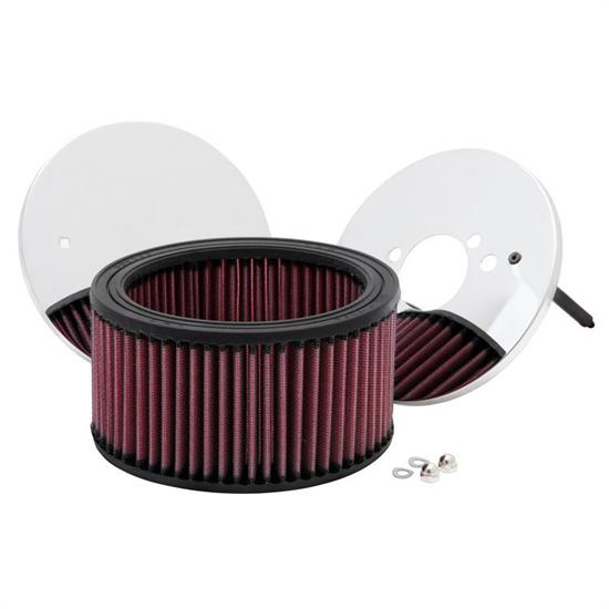 K&N 56-1410 Air Filter Assembly, 3.25in Tall, Red, Round