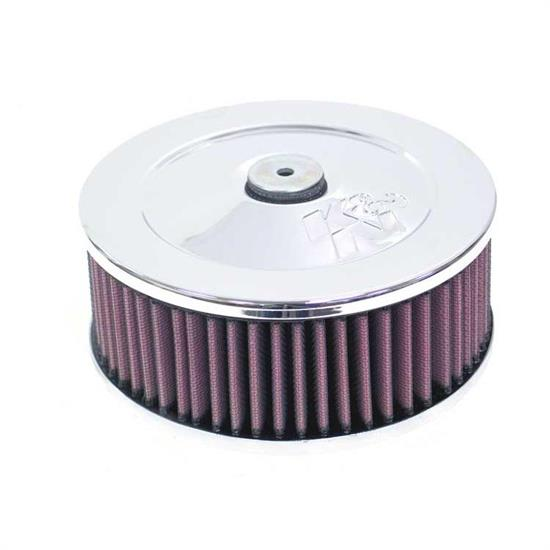 K&N 56-1490 Air Filter Assembly, 2.75in Tall, Red, Round