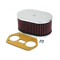 K&N 56-1691 Air Filter Assembly, 3.25in Tall, Red, Oval
