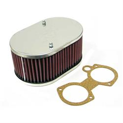 K&N 56-1710 Air Filter Assembly, 3.25in Tall, Red, Oval