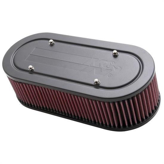K&N 56-1770-2 Air Filter Assembly, 3.25in Tall, Red, Oval