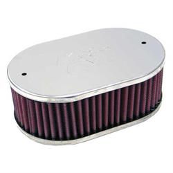 K&N 56-9013 Air Filter Assembly, 3.25in Tall, Red, Oval