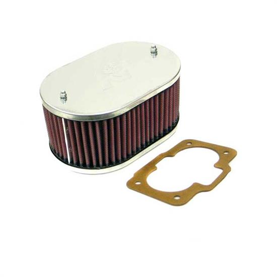 K&N 56-9065 Air Filter Assembly, 3.25in Tall, Red, Oval