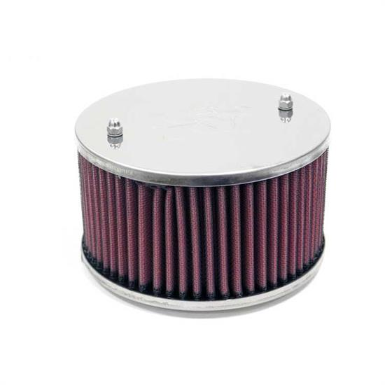 K&N 56-9095 Air Filter Assembly, 2.125in Tall, Red, Oval