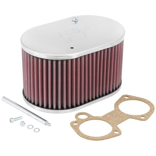 K&N 56-9107 Air Filter Assembly, 4in Tall, Red, Oval