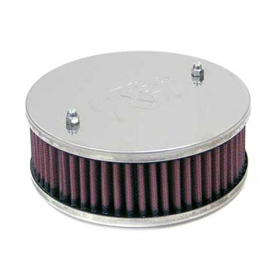 K&N 56-9242 Air Filter Assembly, 1.75in Tall, Red, Round