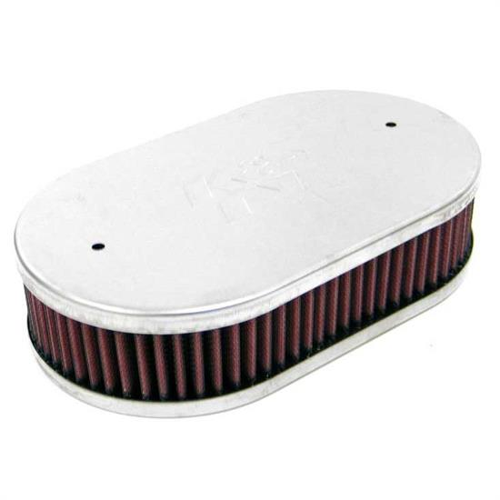 K&N 56-9250 Air Filter Assembly, 2.063in Tall, Red, Oval