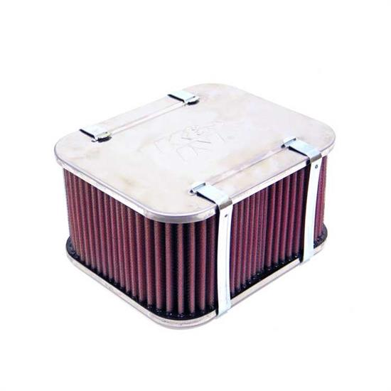 K&N 56-9254 Air Filter Assembly, 3.661in Tall, Red, Rectangular