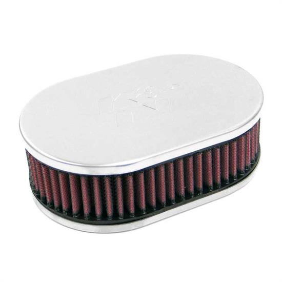 K&N 56-9263 Air Filter Assembly, 2.063in Tall, Red, Oval