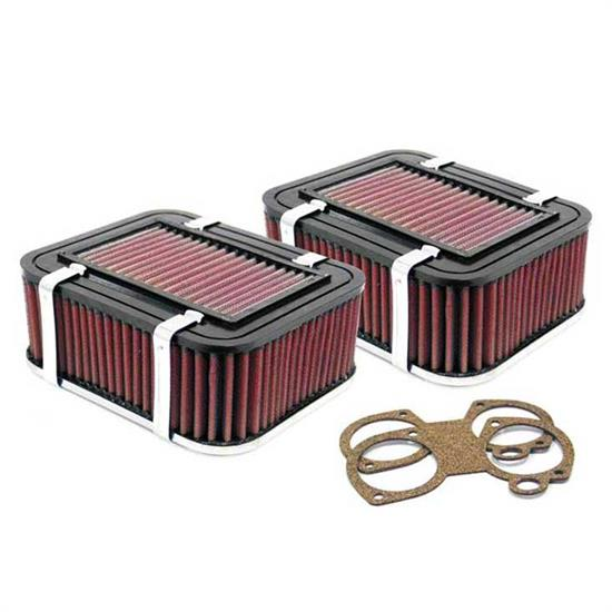 K&N 56-9345 Air Filter Assembly, 2.756in Tall, Red, Rectangular