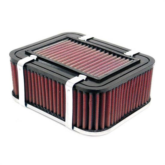 K&N 56-9349 Air Filter Assembly, 2.756in Tall, Red, Rectangular