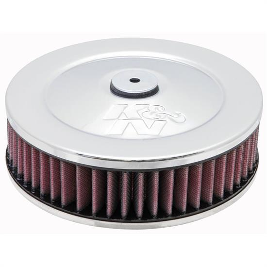 K&N 60-1030 Air Filter Assembly, 2in Tall, Red, Round