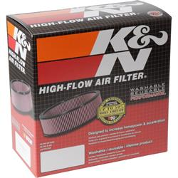 K&N 60-1070 Air Filter Assembly, 2in Tall, Red, Round