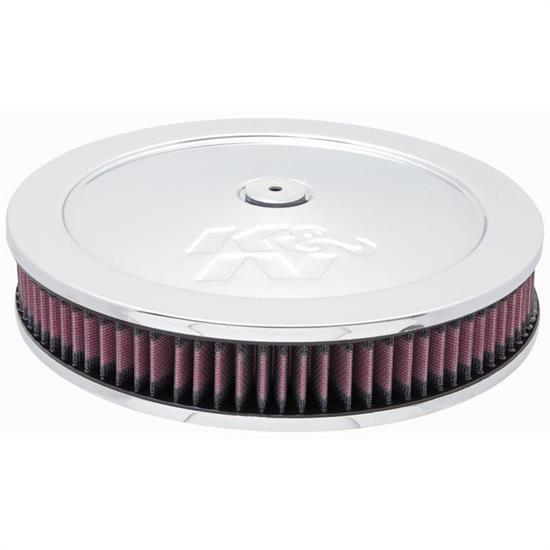 K&N 60-1170 Air Filter Assembly, 2.188in Tall, Red, Round