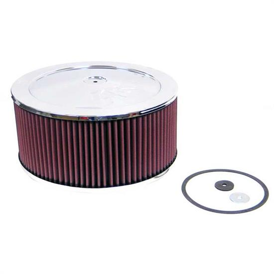 K&N 60-1200 Air Filter Assembly, 5in Tall, Red, Round