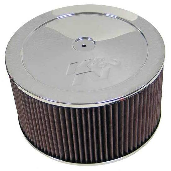 K&N 60-1220 Air Filter Assembly, 6in Tall, Red, Round