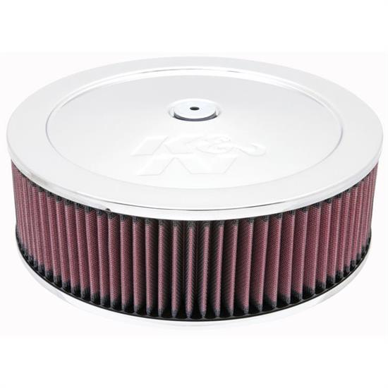K&N 60-1230 Air Filter Assembly, 3.5in Tall, Red, Round