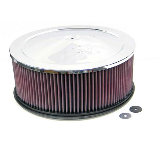 K&N 60-1245 Air Filter Assembly, 5in Tall, Red, Round
