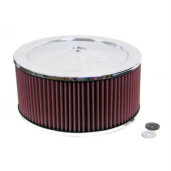 K&N 60-1250 Air Filter Assembly, 6in Tall, Red, Round