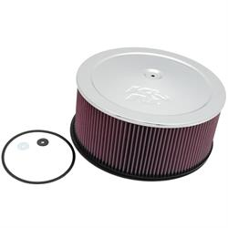 K&N 60-1255 Air Filter Assembly, 6in Tall, Red, Round