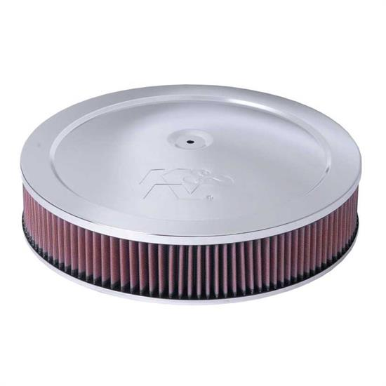 K&N 60-1264 Air Filter Assembly, 3.063in Tall, Red, Round