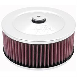 K&N 60-1330 Air Filter Assembly, 3in Tall, Red, Round