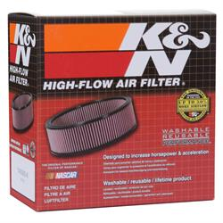 K&N 60-1340 Air Filter Assembly, 2in Tall, Red, Round