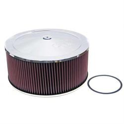 K&N 60-1460 Air Filter Assembly, 6in Tall, Red, Round