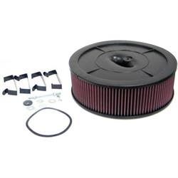 K&N 61-2020 Flow Control Filter Assembly, 14 x 4.0, Holley 2-Barrel