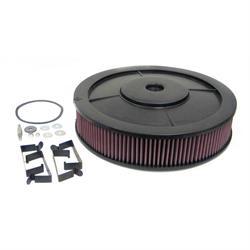 K&N 61-4500 Flow Control Filter Assembly, 16 x 3.5, Holley 390-850 CFM