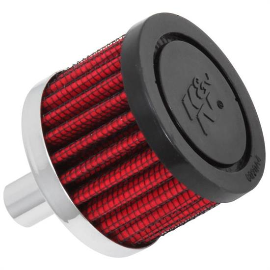K&N 62-1010 Crankcase Vent Air Filter, 1.5 in. Tall, 2 in. OD