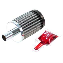 K&N 62-1250 Crankcase Vent Air Filter, 3 in. Tall, 2 in. OD