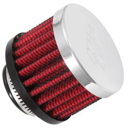 K&N 62-1360 Crankcase Vent Air Filter, 1.5 in. Tall, 2 in. OD