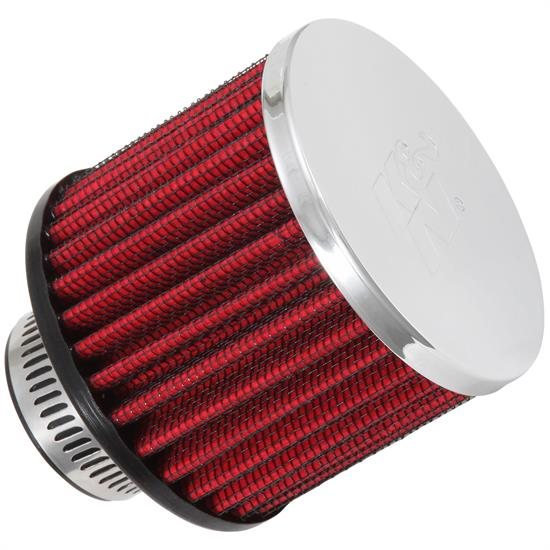 K&N 62-1390 Crankcase Vent Air Filter, 2.5 in. Tall, 3 in. OD