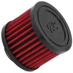 K&N 62-1410 Crankcase Vent Air Filter, 2.375 in. Tall, 3 in. OD